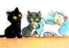 A három kiscica Homemade Christmas Cards, Film Strip, Future Baby, Kittens Cutest, Farm Animals, Bowser, Minions, Fairy Tales, Pikachu