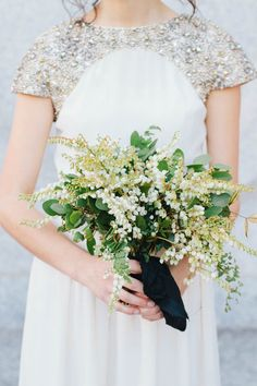 Organic Rustic Indoor Wedding via oncewed.com