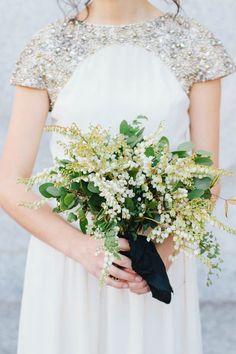 Organic Rustic Indoor Wedding via oncewed.com