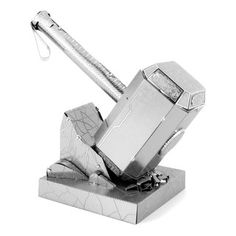 Thor's Hammer Mjolnir DIY Metal Earth Model Kit Feeling like a superhero. Look out it is Thor! Thors Hammer, Thor's Hammer Mjolnir, Metal Earth Models, Metal Models, Metal Puzzles, 3d Puzzles, The Avengers, Avengers Series, Thor 3d