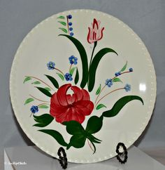 Blue Ridge Southern Pottery Dinner Plate by TooHipChicks on Etsy, $18.00