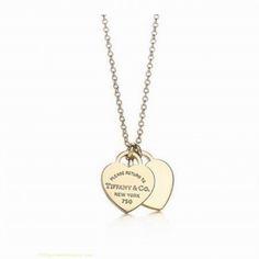 Tiffany &Co Outlet mini double heart pendant