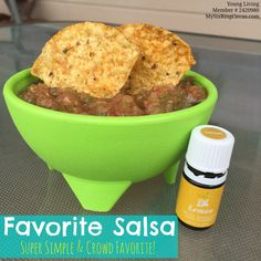 All-Time Favorite Salsa Recipe!! This is simple to make and a crowd favorite too! #essentialoils #YoungLiving