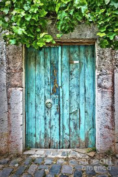 Old blue door Art Print by Delphimages Photo Creations. All prints are professionally printed, packaged, and shipped within 3 - 4 business days. Choose from multiple sizes and hundreds of frame and mat options. Cool Doors, Unique Doors, Light Background Images, Background For Photography, Luxury Background, Arte Peculiar, Wall Backdrops, Vintage Doors, Rustic Doors