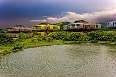 Sanzhi UFO Houses - Sanzhi, Taiwan. I am so fascinated by these. It's too bad they were torn down.