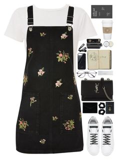 """Untitled #2933"" by wtf-towear ❤ liked on Polyvore featuring RE/DONE, Topshop, Dolce&Gabbana, Rebecca Minkoff, Yves Saint Laurent, Native Union, Accessorize, Mark Cross, Polaroid and NARS Cosmetics"
