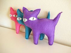 3  Sweet Color Kitten by cronopia6 on Etsy, $20.00