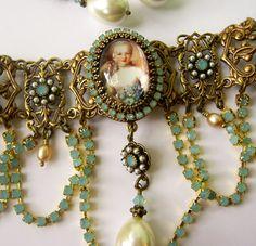 Super Unique Love it!    Marie Antoinette Choker   Baroque Choker by PersephonesBijoux