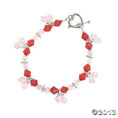Valentine Color Crystal Bicone Bracelets Kit - kit makes 2