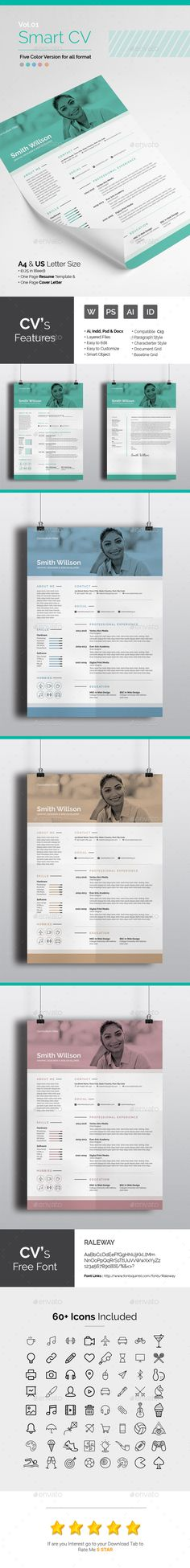 Professional CV Template AI, INDD & DOCX. Download here: http ...