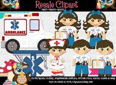 Paramedics 1 Clipart Digital Zip Download by MaddieZee on Etsy