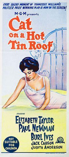 Cat on a Hot Tin Roof R1966 Australian Daybill Poster