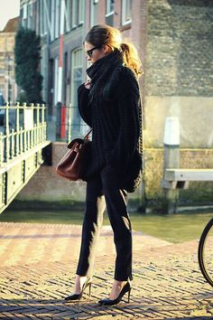 Check ✓ (by Christine R.) - Ready To Fish Sweater, Mulberry Bag, Zara Check Trousers