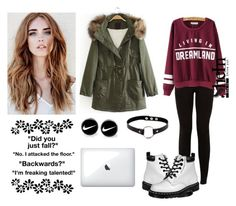 """""""207-> I'm Freaking Talented!"""" by dimibra ❤ liked on Polyvore featuring New Look, Dr. Martens and NIKE"""