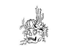 Cowgirl Tattoos, Bff Tattoos, Badass Tattoos, Future Tattoos, Sleeve Tattoos, Tatoos, Succulent Tattoo, Cactus Tattoo, Plant Tattoo