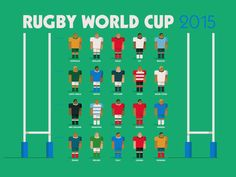 Rugby World Cup 2015 designed by Fraser Davidson for Cub Studio. Connect with them on Dribbble; Rugby 6 Nations, Six Nations, Football Logo Design, International Rugby, Welsh Rugby, Australian Football, Team Games, All Blacks, Sports