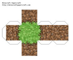 Minecraft Papercraft Alpha Grass