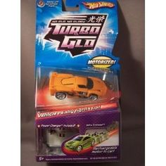 Hot Wheels Turbo Glo Nitro Scorcher. Now kids can replicate the awesome speed and adrenaline of street racing with the Turbo Glo vehicles. The 1:64 scale Turbo Glo vehicles feature iconic styles of street racing vehicles outfitted with a rechargeable motor inside.