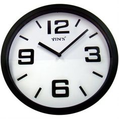 Relógio de Parede Yins YI15029 Preto 28cm - Megazim