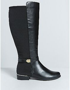 Faux Suede Over-the-Knee Boot   Lane Bryant