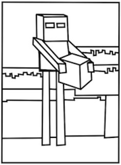 minecraft mobs coloring pages | Ender dragon in the desert | Minecraft Coloring eBook 1 ...