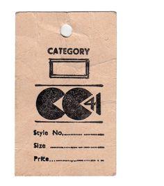 Pac-man's ancestor: CC41 utility fashion war civilian clothing vintage label logo