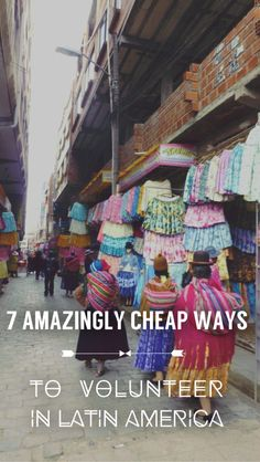 Volunteering in South America needn't cost the earth, or even the price of South America! (Pause for laughs). Here are some options that won't break the bank.