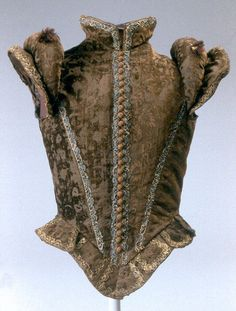 Jerkin  Date: 1570–80 Culture: European Medium: silk, metal thread Dimensions: Length: 23 1/4 x 31 in. (59.1 x 78.7 cm) Credit Line: Gift of Bashford Dean, 1926 Accession Number: 26.196  This artwork is not on display
