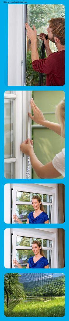 Fliegen Netz anthrazit Insektenschutz zuschneidbar M/ückenschutz ohne Bohren 110 cm x 130 cm tesa Insect Stop STANDARD Fliegengitter f/ür Fenster