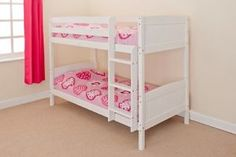 Bunk-Bed-Wood-Frame-in-PINE-or-WHITE-3ft-Christopher-2-Mattresses
