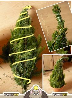 Scrape from homemade spruce branches easily (Step - by - step Scrape making) BornToDIY Grinch Trees, Grinch Christmas Tree, Christmas Words, All Things Christmas, Christmas Wreaths, Christmas Crafts, Homemade Christmas Decorations, Christmas Tree Decorations, Holiday Decor