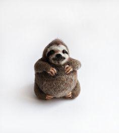 paresseux. laine feutrée par HandmadeByNovember