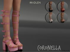 Sims 4 CC's - The Best: Madlen Coronella Shoes by MJ95