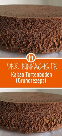 The simplest cocoa cake bottom (basic recipe)- Der einfachste Kakao Tortenboden (Grundrezept) Ingredients 5 eggs 5 tablespoons sugar 5 tablespoons flour 5 tablespoons warm water 5 tablespoons oil 2 tablespoons unsweetened cocoa powder - Peanut Butter Birthday Cake, Vanilla Birthday Cake Recipe, Easy Birthday Cake Recipes, Funny Birthday Cakes, Cookie Cake Birthday, Birthday Cakes For Teens, Homemade Birthday Cakes, Homemade Cake Recipes, Elegant Birthday Cakes