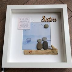 Pebble Art Sisters gift for her gift for sister wall art