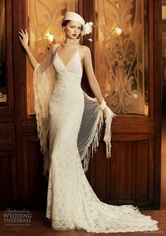1920s inspired vintage Great Gatsby style wedding dress by Yolan Cris