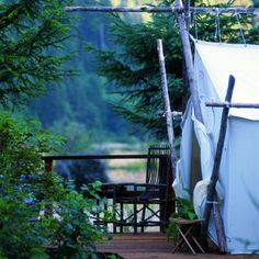 Camping without all that pesky … camping. The romantic luxury tents on Vancouver Island are worth a seaplane ride.