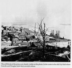 Alton, Illinois (1858) Civil War Prison looking South.