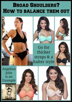 51e16929a3 Broad shouldered girls can go and look more balanced! BikiniGaGa ·  Strawberry Body Types Swimwear