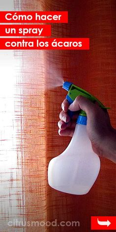 Cómo hacer un spray contra los ácaros. ¡Realmente funciona! #acaras #antiacaras #spay #diy #casa #polvo Diy Cleaning Products, Cleaning Hacks, Cleaning Supplies, Small Game Rooms, Insecticide, Power Clean, Pinterest Diy, Storage Design, House Smells