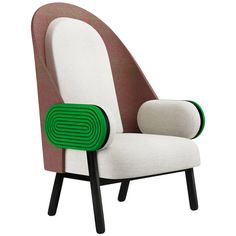 Over the Moon! Contemporary armchair with a vintage twist in kvadrat upholstery | From a unique collection of antique and modern armchairs at https://www.1stdibs.com/furniture/seating/armchairs/