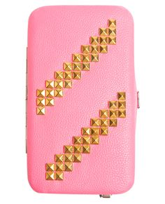 Studded Neon Phone Wallet from Wet Seal