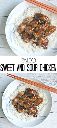 Paleo Sweet and Sour Chicken- an easy, healthy homemade Chinese dinner that's gluten-free!