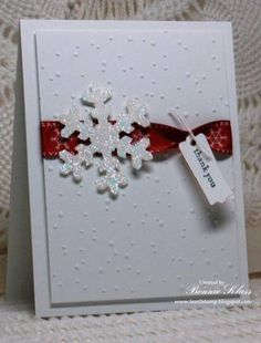 Snowflake Thanks by bon2stamp - Cards and Paper Crafts at Splitcoaststampers