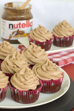 Simple Nutella Chocolate Cupcakes - OMG Chocolate Desserts #cupcakes #cupcakeideas #cupcakerecipes #food #yummy #sweet #delicious #cupcake