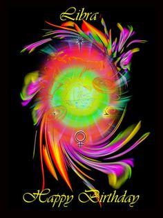 'Zodiac sign Libra Happy Birthday  Sternzeichen Waage' von Walter Zettl bei artflakes.com als Poster oder Kunstdruck $28.75