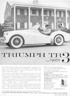 "Triumph TR3 ""World's greatest stopping power"""