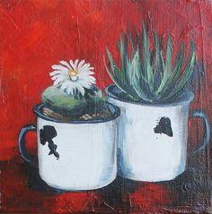 Farm Paintings, Oil Pastel Paintings, Watercolor Paintings, Cactus Painting, Fabric Painting, Anemone Bouquet, Bible Art, Kitchen Art, Garden Art