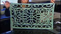 DIY Vintage Iron Wall Art - Vintage decorative iron pieces are very popular, but they can be pretty expensive -- most cost $20 and up. Kat Cosley, host of Deals, figured out a way to recreate the same look for a whole lot less!