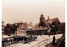 The demolition of houses near the Church of the Holy Spirit and the Spanish Synagogue. Photo, J. Prague Guide, Prague Czech Republic, Mystery Novels, Holy Spirit, Big Ben, Places To Travel, Tourism, Pictures, Historia